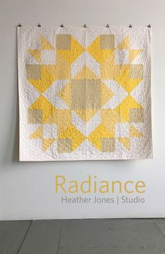 Radiance, a PDF modern quilt pattern in two sizes, by Heather Jones. Modern quilt pattern. affiliate link.