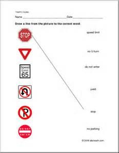 Worksheets Safety Signs Worksheet a way for students to familiarize themselves with safety signs and road traffic printables children yahoo search results image results