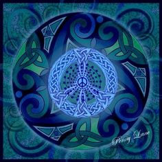 ☮ American Hippie Psychedelic Art ~ Peace Sign .. Mandala