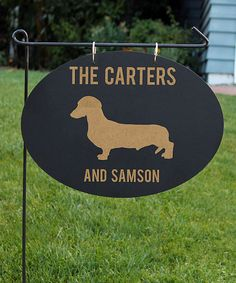 Take a look at this Dachshund Silhouette Personalized Black Board Garden Flag today!