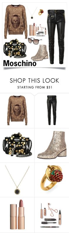 """""""Untitled #104"""" by reemf52 on Polyvore featuring Moschino, Marc Jacobs and Charlotte Tilbury"""