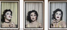 Talent: The image was part of a series of three that depict a women (above) posing on her own in a photo booth