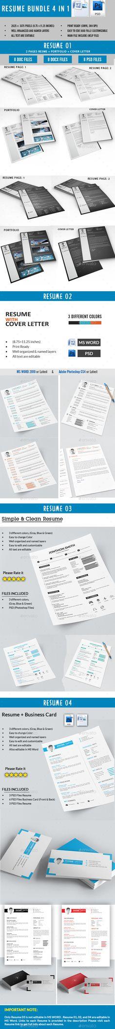 Clean Resume  Cover Letter by Mohsin_kabir Description â\u20acœHello