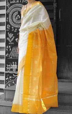 Designer Handwoven Woven Chanderi Silk Saree | India1001.com