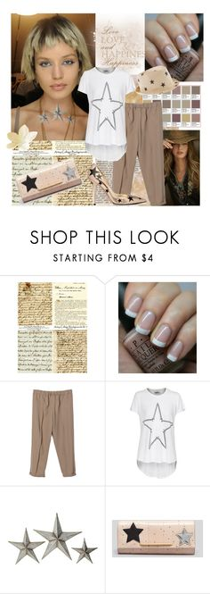 """Taking the Weekend to Count Stars"" by lavendergal ❤ liked on Polyvore featuring Ralph Lauren Blue Label, OPI, LAUREN MOSHI, WALL, Dolce&Gabbana and B Brian Atwood"