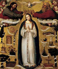 Joan de Joanes 1507 - 1579 The Immaculate Conception 1535 - 1540 Oil on panel 215 x 184 cm Fundación Banco Santander, Spain