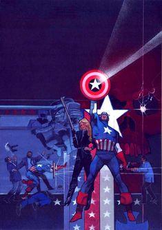 bigredrobot:    Captain America by Bill Sienkiewicz