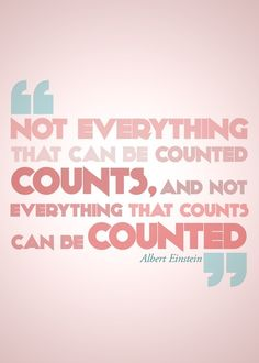 Remember the things that really count!