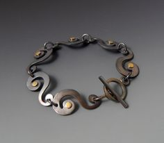 Mixed Metal Swirl Bracelet by JewelrybyFrancine on Etsy