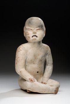Cultura Olmeca Periodo preclásico medio 1200-600 a. C. Arcilla 17 x 10 x 10.5 cm. Colección CONACULTA-INAH-MEX. Figura antropomorfa niño jaguar - 3 Museos