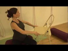 ▶ Iyengar yoga sequence with props for pregnancy part 1 - YouTube