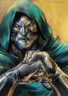 Doctor Doom- Art by Ashraf Ghori Comics Anime, Marvel Comics Art, Marvel Comic Books, Comic Books Art, Comic Art, Comic Pics, Book Art, Comic Book Villains, Marvel Villains