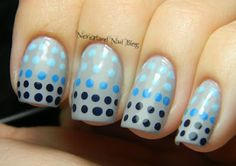 Neverland Nail Blog: Blue Dot Ombre Mani!...literally: ain't NOBODY got time for that!!