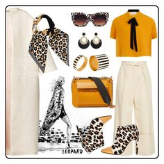 """""""MARNI Leopard Ponyskin Ankle Boots"""" by margaritakhanina ❤ liked on Polyvore featuring Esme Vie, Delpozo, Elvi, Givenchy, Marni, Christian Dior, Toolally and leopard"""