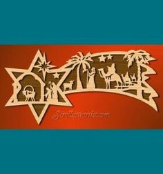 Scroll Saw Patterns :: Holidays :: Christmas :: Plaques other projects :: Nativity star - Nativity Star, Christmas Nativity, Christmas Plaques, Christmas Wood, Christmas Deco, Diy Christmas Ornaments, Christmas Projects, Holiday Crafts, Christmas Patterns