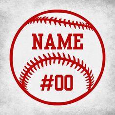 Baseball Softball Custom Number Name Vinyl Car Decal Bumper Sports Decals, Car Decals, Bumper Stickers, Vinyl Decals, Baseball Crafts, Baseball Mom, Baseball Numbers, Baseball Shirts, Baseball Shelf