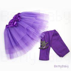 tutu purple set for little funcy ballerina