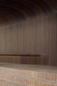 Integrated bench/ceiling/screen beautifully refined details - CC De Grote Post Oostende by B- Architecten Parametrisches Design, Wall Design, Urban Design, House Design, Design Ideas, Parametric Architecture, Parametric Design, Interior Architecture, Interior Walls