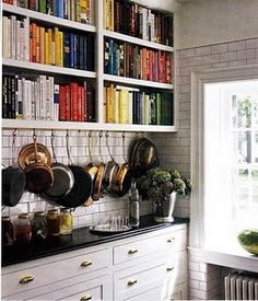 AHHH LOVE!! #cabinets #storage #cookbooks #kitchen