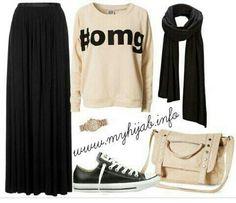 Cool mix & match #hijabchic #hijabstyle #hijabfashion