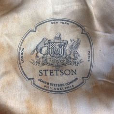I met a guy at the Dallas Tweed Ride who showed me this label printed on the lining of the vintage Stetson hat he inherited from his father.