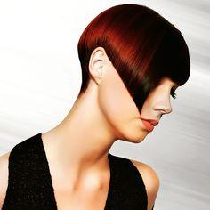 A light beam  emphasizes the haircut i created