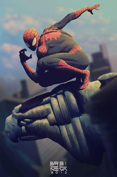 Spider-Man on a Ledge