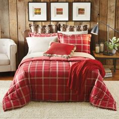 Red & TAN WITH BEAR Decorative Pillows ‹ Decor Love DREW'S ROOM