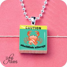 LifeTiles are decorative inch square maple wood tiles which can be adorned with metal and glass bead accents. Shellfish Allergy, Food Allergies, Glass Beads, Health, Free, Health Care, Salud