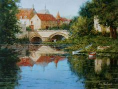 eric michaels art | Old Roundhouse - Lechlade, England oil 18 x 24