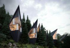 Architecture Paramétrique, Sustainable Architecture, Sustainable Design, Contemporary Architecture, Sustainable Houses, Futuristic Architecture, Treehouse Hotel, Tree House Designs, Wood Cladding