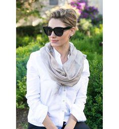 Italian scarf. Ellian Raffoul of Look Models dressed as Audrey Hepburn.#jillmilan