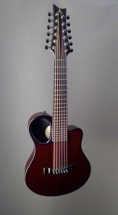 Emerald Guitars Amicus12 Opus Red Acoustic Guitar