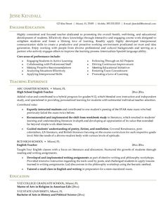10 Best Middle School English Teacher Resume Builder Images
