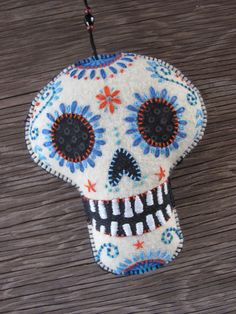 Felt Day of the Dead Ornament