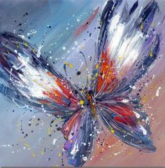 Frameless Handpainted Artwork High Quality Modern Wall Art On Canvas Animal Oil Painting Butterfly Hang Pictures Room Decor