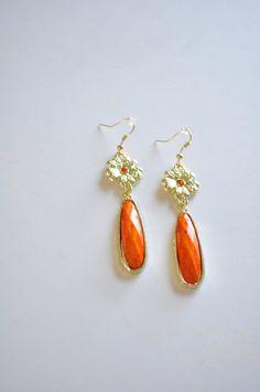 etsy/ orange earrings