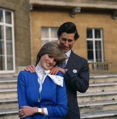 Engagement photo of HRH, Charles, The Prince of Wales, and Lady Diana Spencer. Feb 1981. #royalty