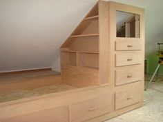 Unbelievable Attic bedroom furniture,Attic storage cabinets and Attic bathroom pipe. Attic Renovation, Remodel, House, Attic Bedroom Small, Built In Bed, Home Remodeling, Home, Attic Conversion, Remodel Bedroom