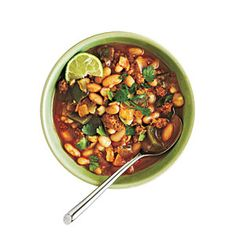 Vegetarian Soups and Stews | White Bean and Hominy Chili | CookingLight.com