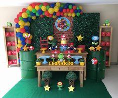 Mario Birthday Cake, 2 Birthday, Super Mario Birthday, Super Mario Party, 6th Birthday Parties, Mario E Luigi, Nintendo Party, Festa Pj Masks, Elmo Party