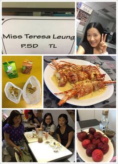 Breakfast, lunch n tea with Miss Leung on pouring Monday.