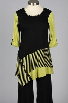 inside out - Tuesday Tunic - Black & Apple