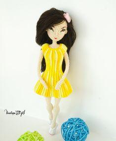"""PATTERN Doll """"Jessica"""", crochet doll, amigurumi doll, amigurumi PDF pattern, doll pattern, Instant download"""