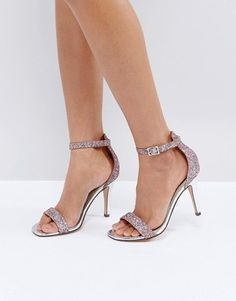 728649e80 Shop Head Over Heels by Dune Madera Blush Heeled Sandals at ASOS.