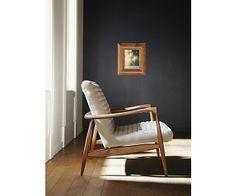 Callan Chair & Ottoman in Trip Fabric - Chairs - Living - Room & Board