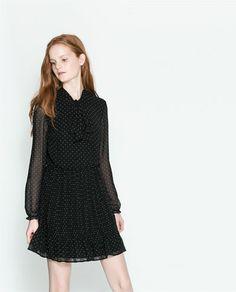 Image 3 of DRESS WITH BOW from Zara Zara New 7ece68edece