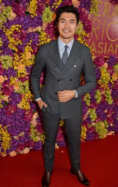 """Henry Golding attends a special screening of """"Crazy Rich Asians"""" at The Ham Yard Hotel on September 2018 in London, England. Get premium, high resolution news photos at Getty Images 1950s Jacket Mens, Cargo Jacket Mens, Grey Bomber Jacket, Green Cargo Jacket, Leather Jacket, Fall Jackets, Men's Jackets, Khaki Parka, Magazine Man"""