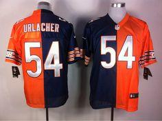 $22 for Men's Nike Chicago Bears #54 Brian Urlacher Blue Split Elite Jersey. Buy Now! http://55usd.com/Men-s-Nike-Chicago-Bears--54-Brian-Urlacher-Blue-Orange-Split-Elite-Jersey-productview-138089.html #Chicago_Bears #54 #Brian_Urlache #Jersey #55USD