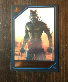 NEW 2015 Playstation Experience PSX EXCLUSIVE SHADOW OF THE BEAST CARD 010